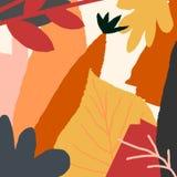 Plantilla de Autumn Leaves Abstract Square Card stock de ilustración