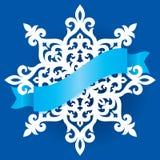 Plantilla de corte del laser del copo de nieve del vector Modelo del recorte de la decoración de la Navidad o del Año Nuevo Ejemp Fotografía de archivo libre de regalías