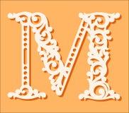 Plantilla de corte del laser Letras iniciales del monograma Letra floral de lujo del alfabeto libre illustration