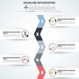 plantilla de 3D Infographic Visualización de los datos puede ser utilizado para el wor Foto de archivo libre de regalías