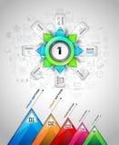 Plantilla de Infograph con opciones múltiples y muchos elementos infographic del diseño libre illustration