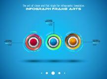 Plantilla de Infograph con opciones múltiples y muchos elementos infographic del diseño ilustración del vector