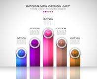 Plantilla de Infograph con opciones múltiples y muchos elementos infographic del diseño stock de ilustración