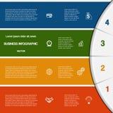 Plantilla de Infographic con áreas de texto en cuatro posiciones ilustración del vector