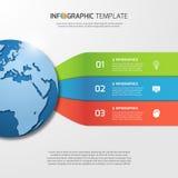Plantilla de Infographic con el globo para los gráficos, cartas, diagramas Imagen de archivo libre de regalías