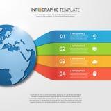 Plantilla de Infographic con el globo para los gráficos, cartas, diagramas Fotos de archivo