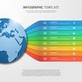 Plantilla de Infographic con el globo para los gráficos, cartas, diagramas Foto de archivo libre de regalías