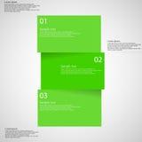 Plantilla de Infographic con la barra dividida a tres porciones en luz libre illustration