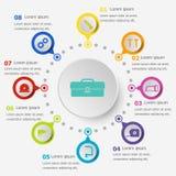 Plantilla de Infographic con los iconos de la herramienta ilustración del vector