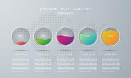 Plantilla de Infographic con 5 opciones stock de ilustración