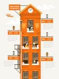 Plantilla de Infographic de la educación libre illustration