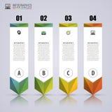 Plantilla de Infographic de la flecha Banderas numeradas coloridas mínimas libre illustration