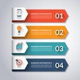 Plantilla de Infographic de la flecha Fondo del vector Imágenes de archivo libres de regalías
