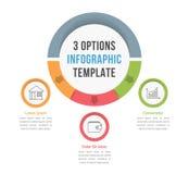 Plantilla de Infographic de 3 opciones libre illustration