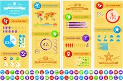 Plantilla de Infographic del viaje. Foto de archivo