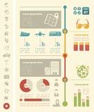 Plantilla de Infographic del viaje ilustración del vector