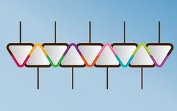 Plantilla de Infographic de elementos triangulares Wi del concepto del negocio stock de ilustración