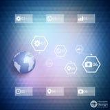 Plantilla de Infographic para el diseño de negocio, triángulo Fotos de archivo libres de regalías