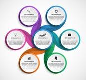 Plantilla de Infographic para la bandera de las presentaciones o de la información del negocio stock de ilustración