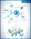 Plantilla de Infographic para el visualizat de los datos de la estadística stock de ilustración