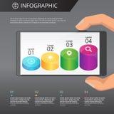 Plantilla de Infographics Fotografía de archivo