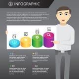 Plantilla de Infographics Imágenes de archivo libres de regalías