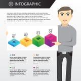 Plantilla de Infographics Imagenes de archivo