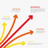 Plantilla de Infographics con las flechas. Imagenes de archivo