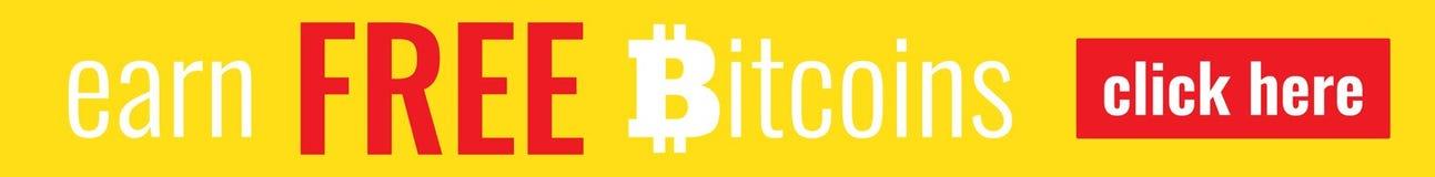 Plantilla de la bandera de Bitcoin Fotografía de archivo libre de regalías