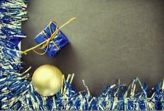 Plantilla de la bandera de la Navidad o del Año Nuevo con el lugar del texto Fotos de archivo libres de regalías