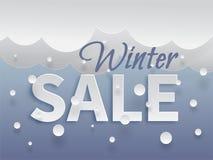 Plantilla de la bandera de la venta del invierno Imágenes de archivo libres de regalías
