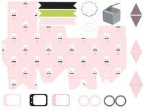 Plantilla de la caja de regalo, sistema del partido de Pascua ilustración del vector