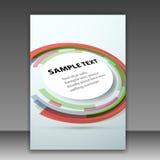 Plantilla de la carpeta con el elemento colorido redondo del diseño Fotos de archivo