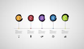 Plantilla de la cronología de Infographic ilustración del vector