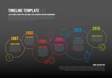 Plantilla de la cronología de Infographic del vector Foto de archivo libre de regalías