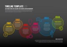 Plantilla de la cronología de Infographic del vector Fotos de archivo