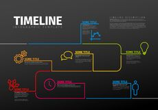 Plantilla de la cronología de Infographic del vector Imágenes de archivo libres de regalías