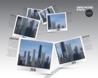 Plantilla de la cronología de Infographic con las fotos Fotos de archivo libres de regalías