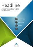 Plantilla de la cubierta azulverde para el negocio Vector Fotografía de archivo libre de regalías