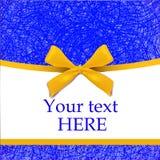 Plantilla de la cubierta con el arco amarillo realista Azul-amarillo Fotografía de archivo libre de regalías