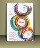 Plantilla de la cubierta del folleto del vector Fotografía de archivo