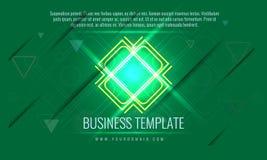 Plantilla de la cubierta del negocio del vector También disponible para el informe anual corporativo, publicidad, folleto del már Fotografía de archivo