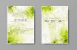 Plantilla de la cubierta orgánica natural del folleto Fotografía de archivo