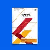 Plantilla de la disposición de diseño de la cubierta del aviador del folleto del negocio de tamaño A4 Imágenes de archivo libres de regalías