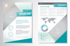 Plantilla de la disposición de diseño del aviador del folleto del vector Infographic stock de ilustración