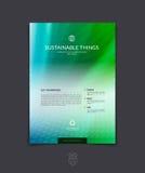 Plantilla de la disposición de diseño del folleto, del aviador y de la cubierta del negocio con b Foto de archivo libre de regalías