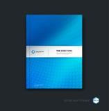 Plantilla de la disposición de diseño del folleto, del aviador y de la cubierta del negocio con b Imágenes de archivo libres de regalías