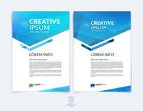 Plantilla de la disposición de diseño del folleto, del aviador y de la cubierta del negocio con b libre illustration