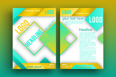 Plantilla de la disposición de diseño del folleto del vector Imagen de archivo libre de regalías