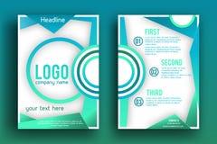 Plantilla de la disposición de diseño del folleto del vector Imagenes de archivo